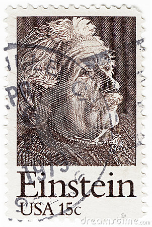Stamp with Albert Einstein Editorial Photo