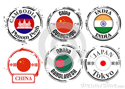 Stamp of Asian capitals