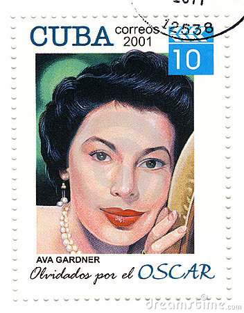 Stamp with Ava Gardner Editorial Photo