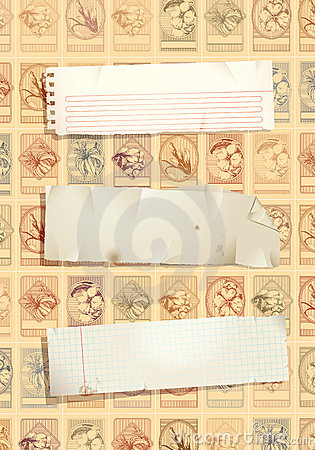 Stamp background with paper