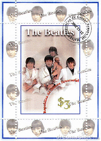 Stamp with Beatles Editorial Photo