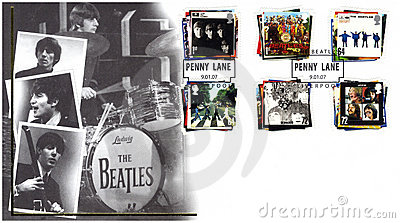 Stamp with The Beatles Editorial Stock Photo