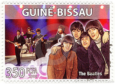 Stamp The Beatles Editorial Photography