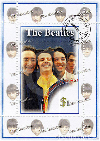 Stamp with The Beatles Editorial Photography