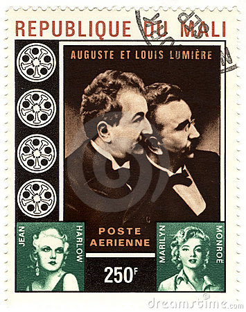 Stamp with brother Lumiere Editorial Image