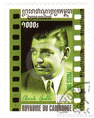 Stamp with Clark Gable Editorial Photography