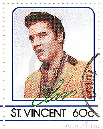 Stamp with Elvis Presley Editorial Stock Image