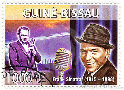 Stamp with Frank Sinatra Editorial Stock Image