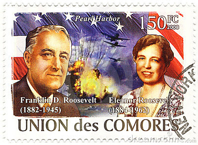 Stamp with Franklin Roosevelt Editorial Photo