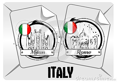 Stamp of Italian cities