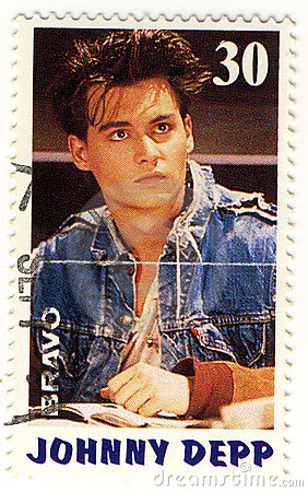 Stamp with Johnny Depp Editorial Photo