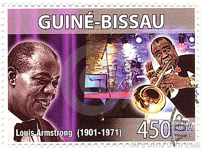 Stamp with Louis Armstrong Editorial Photo
