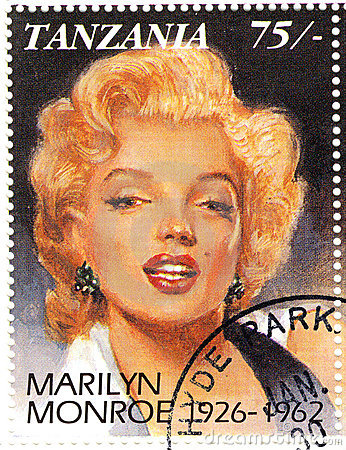 Stamp with Marilyn Monroe Editorial Photo