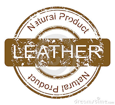 Stamp with natural leather product