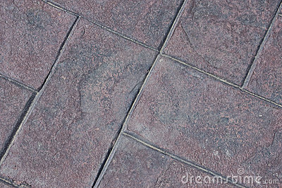 Stamped cement bricks