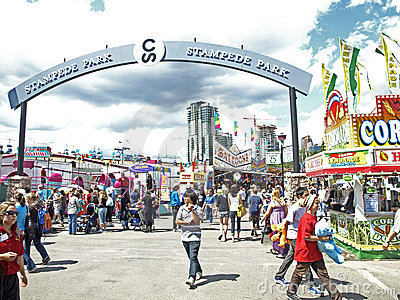 Stampede park midway. Editorial Stock Image