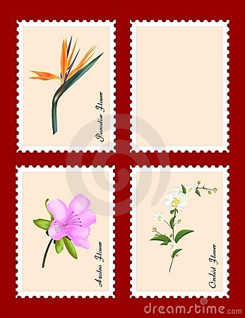 Stamps with flowers