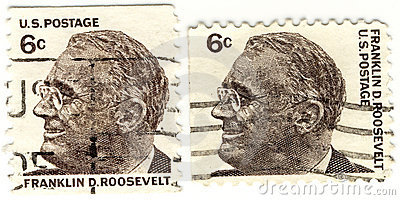 Stamps with  Franklin D.Rooseve Editorial Image
