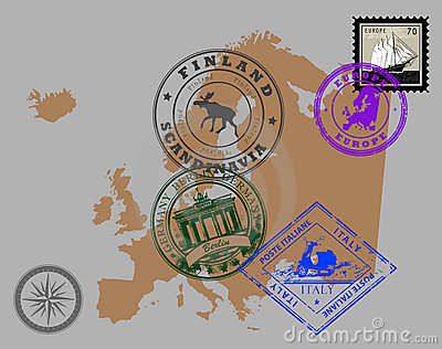 Stamps of theme Europe