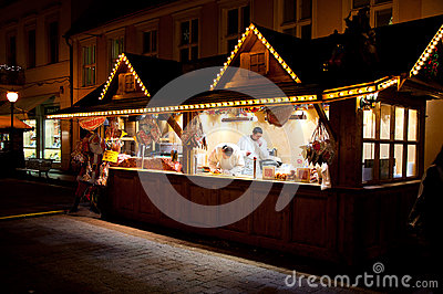 Stand on christmas market in Potsadm Editorial Stock Image