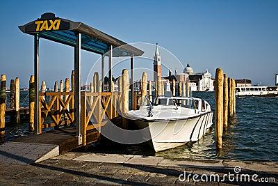 Stand de taxi de l eau, Venise