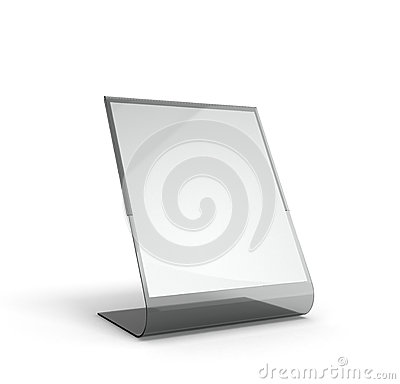 Free Stand For Menu With White Sheets Of Paper On A White Background Stock Photo - 66738800