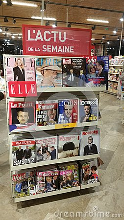 Stand of French Magazines Editorial Image