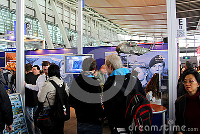 Stand of Germany Army at CEBIT computer expo Editorial Image