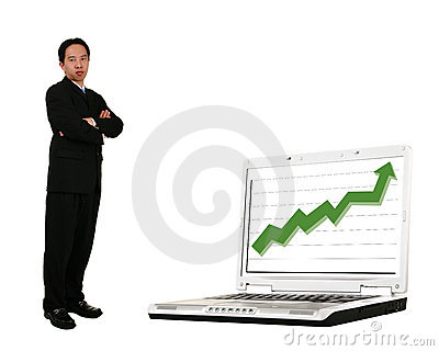 Stand Beside Laptop With Stock
