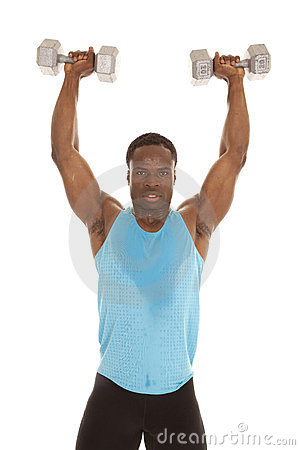 Free Stand Lift Weights Up Stock Photos - 23854573