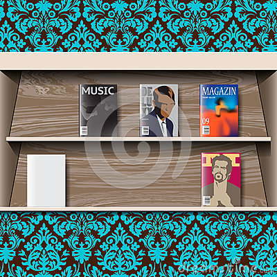 Stand online magazines, vector