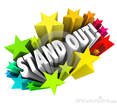 Stand Out Words Stars Be Special Unique Different from Competiti