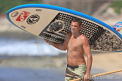 Stand Up Paddle surfer Editorial Stock Photo