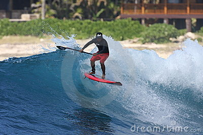 Stand Up Paddle surfing Editorial Stock Photo