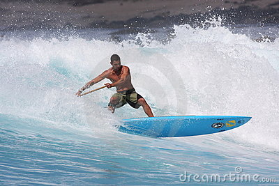 Stand up paddle surfing hawaii Editorial Photo
