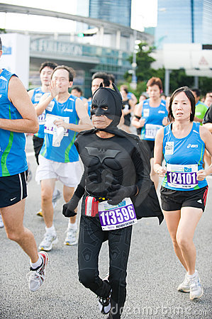 Standard chartered marathon singapore 2010 Editorial Stock Image