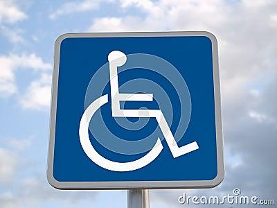 Standard disabled sign