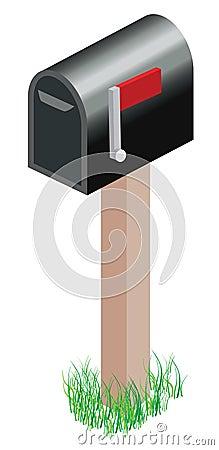 Standard metal mailbox