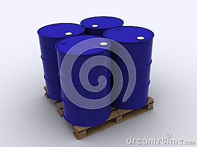 Standard palett for chemical logistic