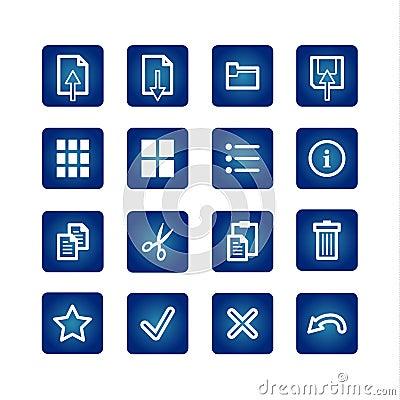 Standart computer commands icons set