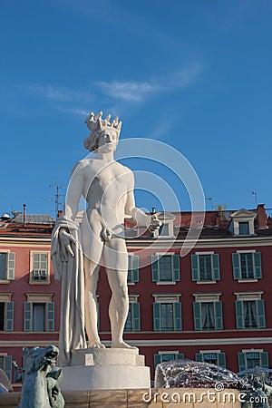Standbeeld in Nice, Frankrijk