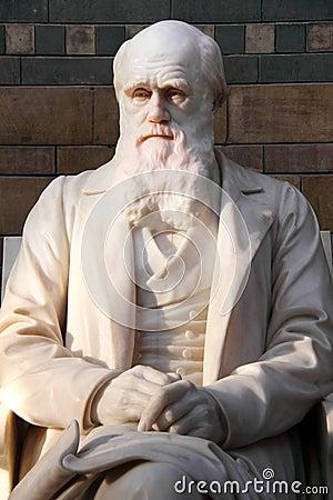 Standbeeld van Charles Darwin