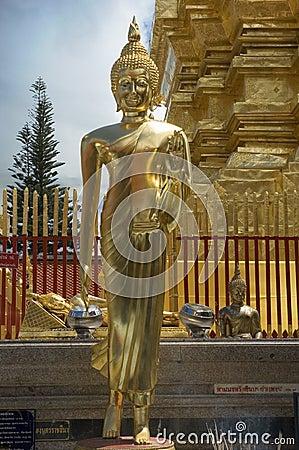 Standing Buddha in Chiang Mai