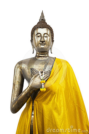 Free Standing Buddha On White Background Stock Image - 24492341