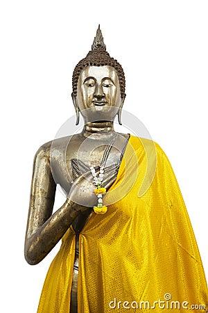Standing Buddha on White Background