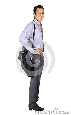 Standing business man