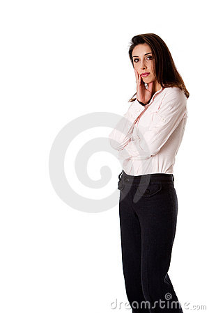 Standing business woman
