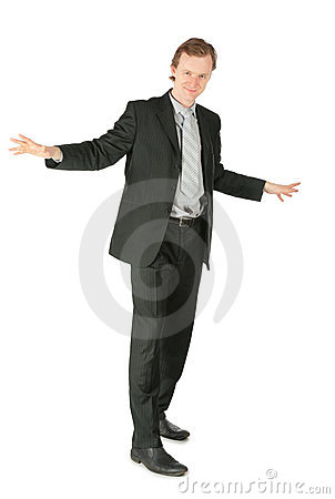 Standing businessman