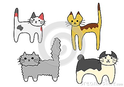 Standing cats