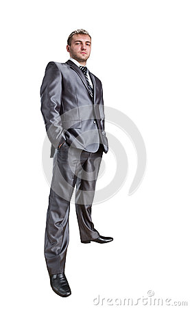 Standing confident businessman